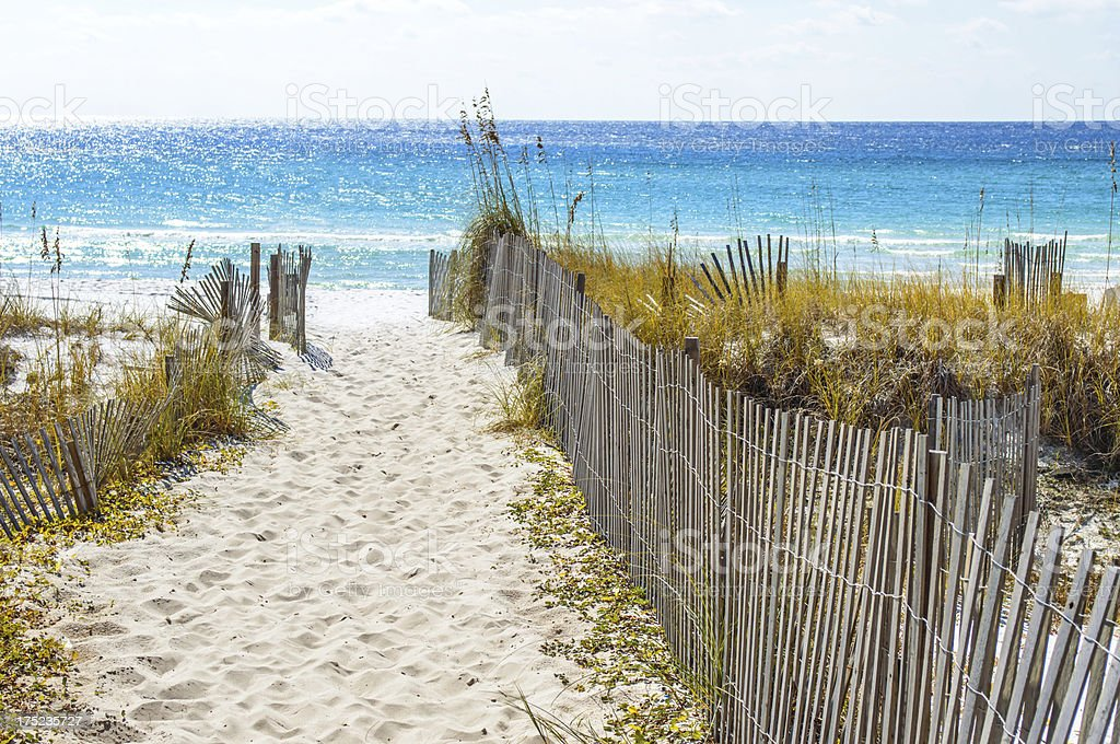 Beautiful beach on Gulf Shore stock photo