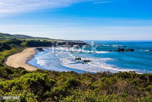 Beautiful Beach on the Big Sur Highway (Highway 1) and Coastline. California Central Coast, near Cambria, CA.