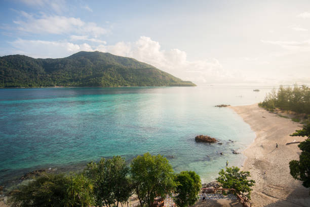 Beautiful Beach, Beautiful Beach, sea and island view côte d'ivoire stock pictures, royalty-free photos & images