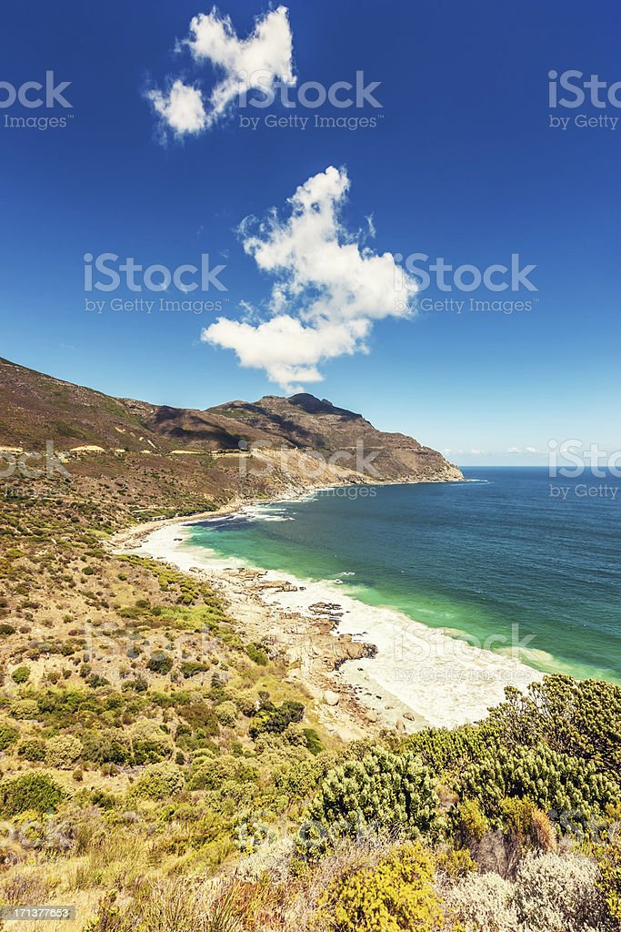 Beautiful Beach View Chapman's Peak Drive Cape Town stock photo
