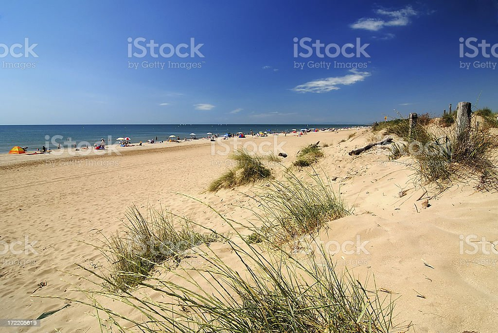 Beautiful beach with a dune royalty-free stock photo