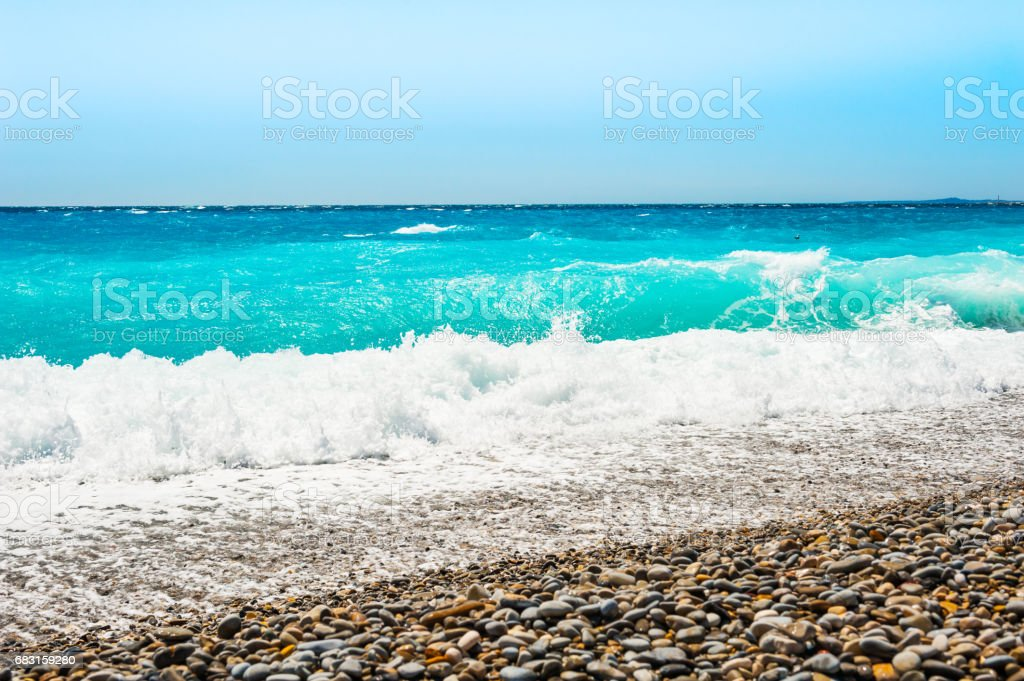 Beautiful beach with turquoise water. Travel and vacation 免版稅 stock photo