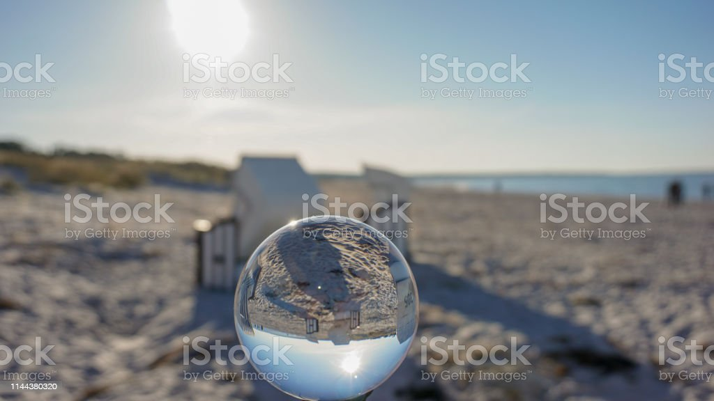 Lens effect using a glass ball