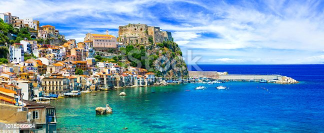 beautiful medieval town Scilla in Calabria with great beaches