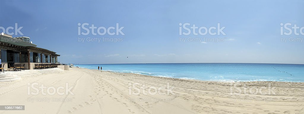 beautiful beachfront on cancun resort royalty-free stock photo