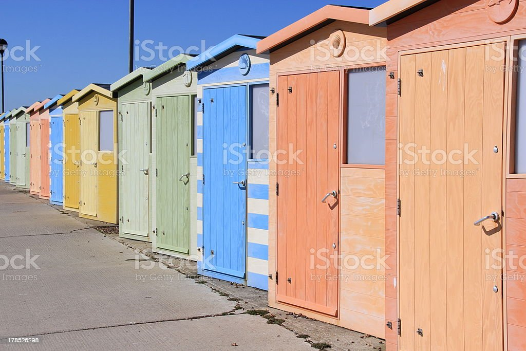 Beautiful Beachhouses royalty-free stock photo