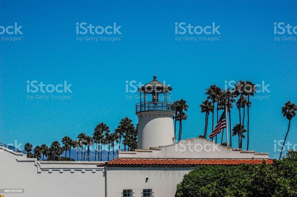 Beautiful Beachside Buildings in Santa Barbara, CA zbiór zdjęć royalty-free