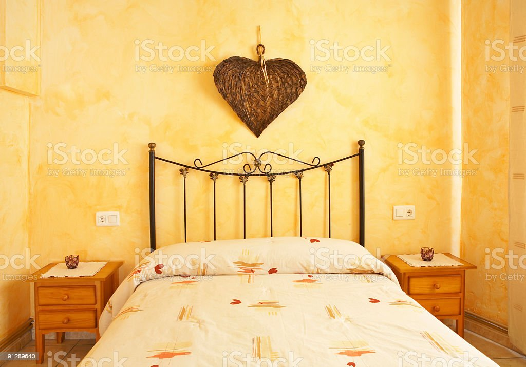 Beautiful bed royalty-free stock photo