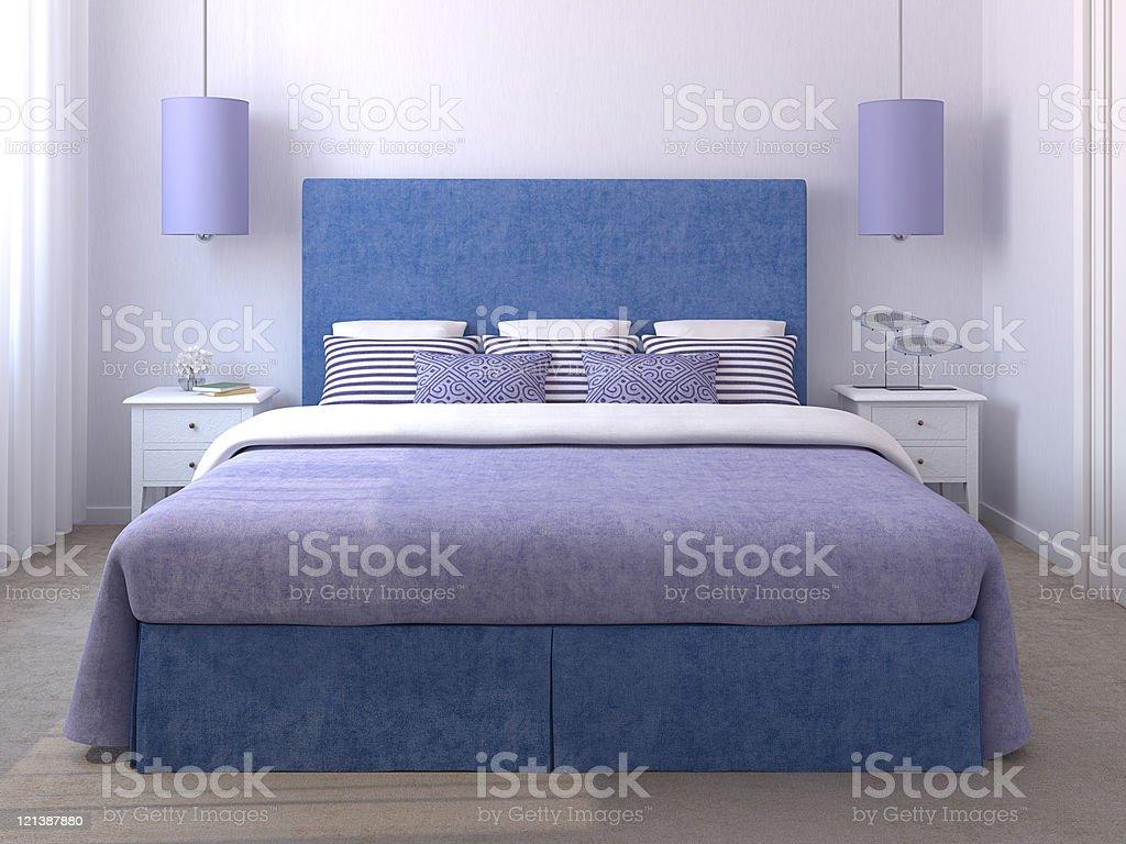 Beautiful bedroom interior. royalty-free stock photo