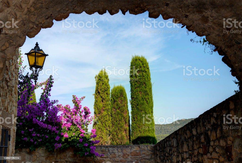 Hermosa Begur Costa Brava, Cataluña, España - foto de stock