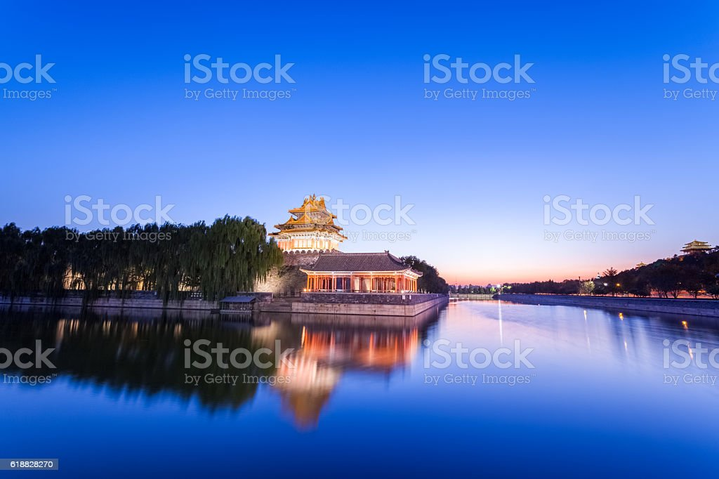 beautiful beijing the imperial palace watchtower stock photo