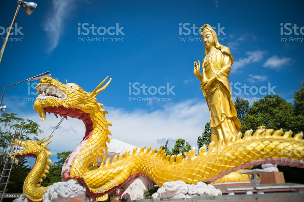 Beautiful beliefs(Wat Ta Su Wan) Thailand stock photo