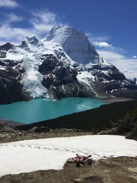 Beautiful Berg Lake stock photo