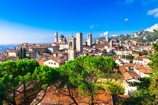 Beautiful Bergamo,Lombardy,Italy.