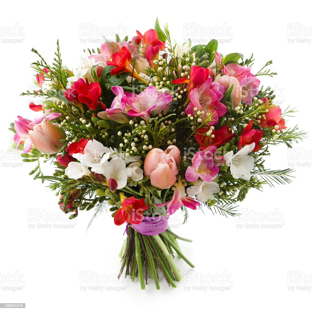 A Beautiful Big Bouquet Of Many Flowers Stock Photo More Pictures
