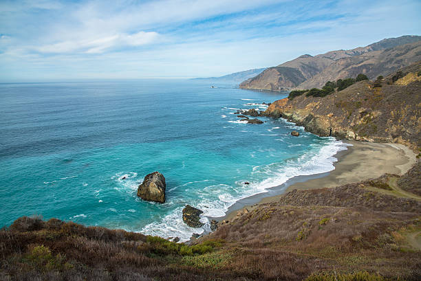 beautiful big sur - central coast california stock photos and pictures