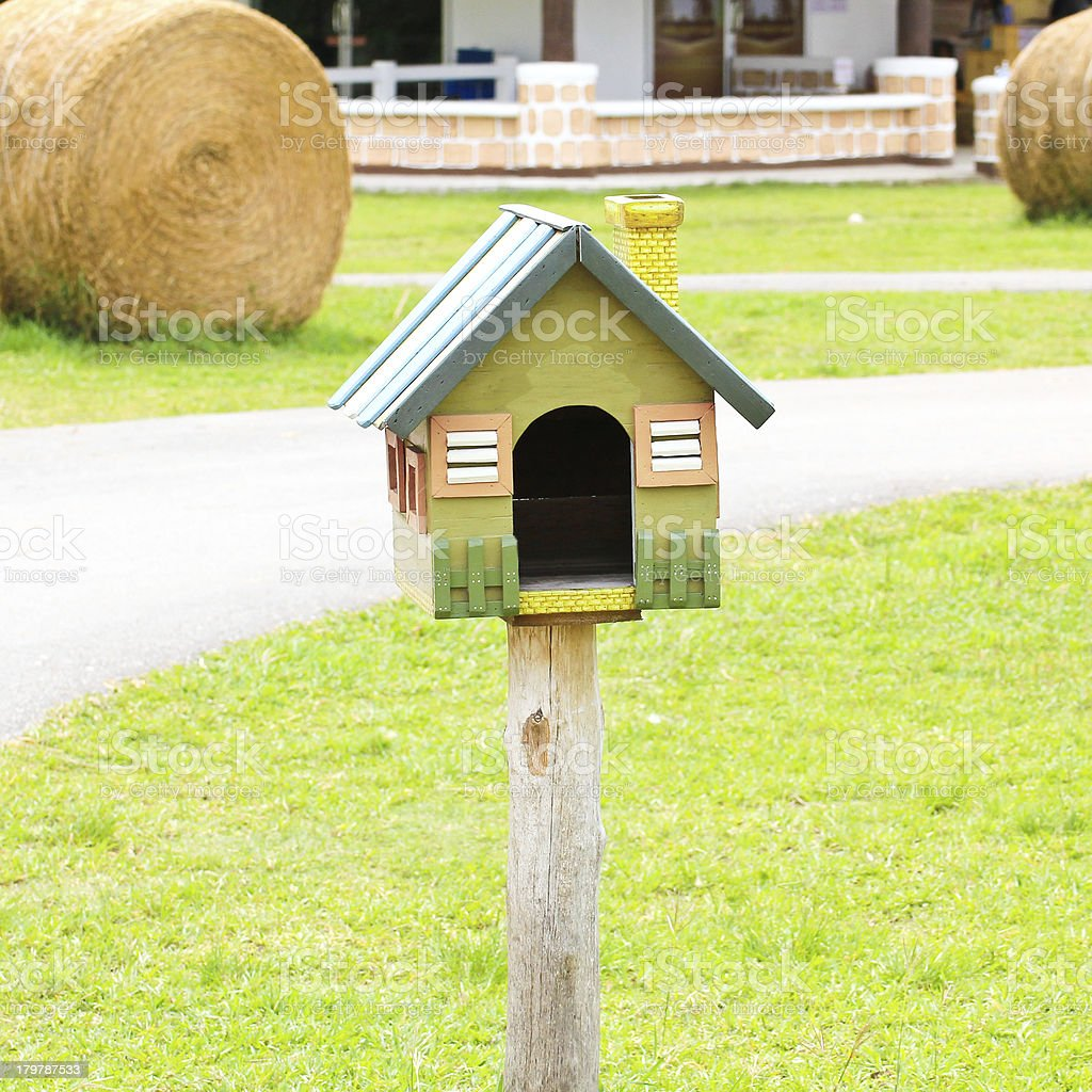 Beautiful bird house in a farm royalty-free stock photo