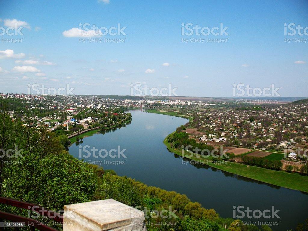 Beautiful bird's eye view on Soroca stock photo