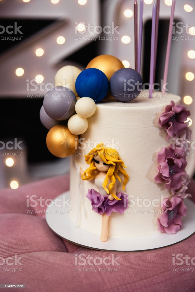 Swell Beautiful Birthday Cake At A Party 30Th Anniversary Stock Photo Birthday Cards Printable Nowaargucafe Filternl