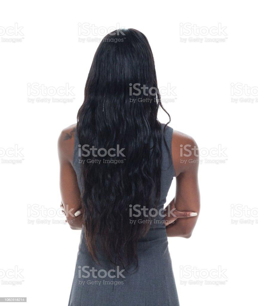 Schöne schwarze Geschäftsfrau – Foto