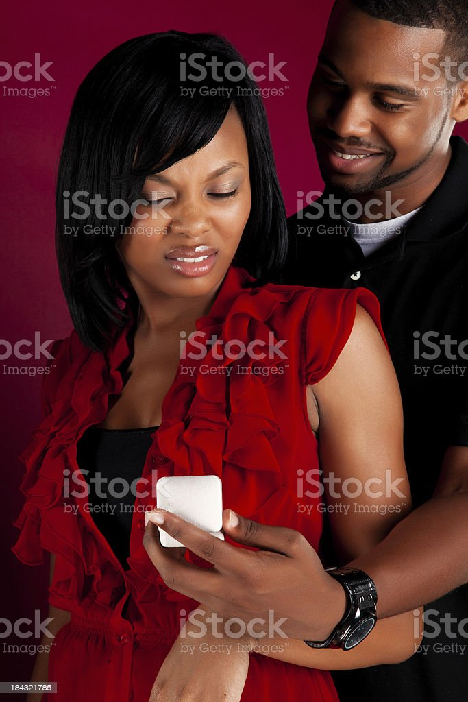 Beautiful Black Couple royalty-free stock photo