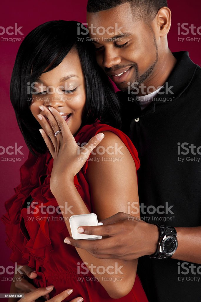 Beautiful Black Couple royalty-free stock photo