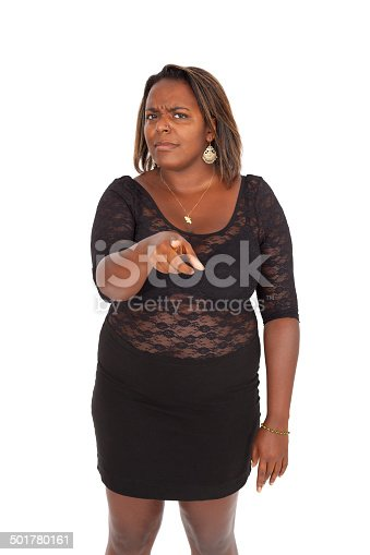 istock Beautiful black woman doing different expressions 501780161