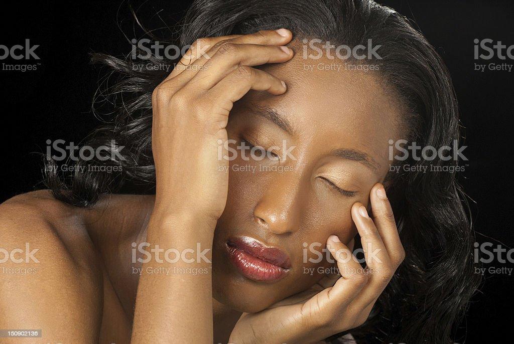 Beautiful black woman royalty-free stock photo