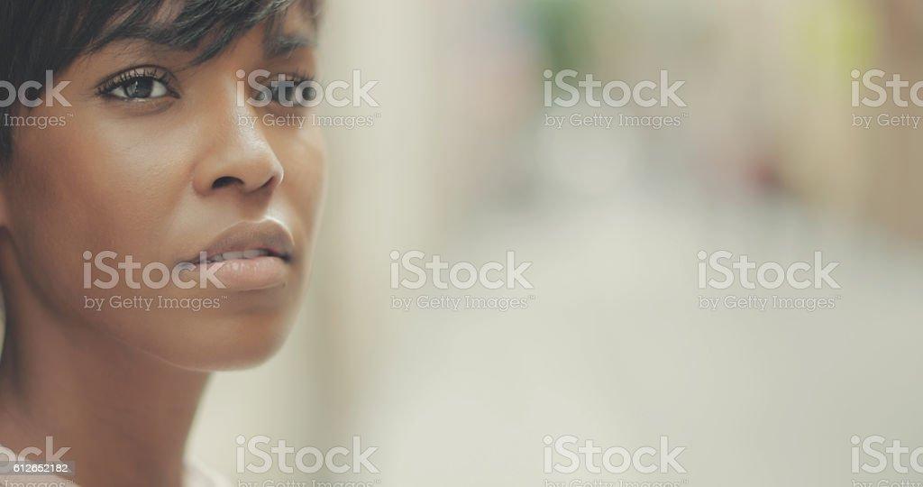 Schöne Schwarze Frau Porträt – Foto