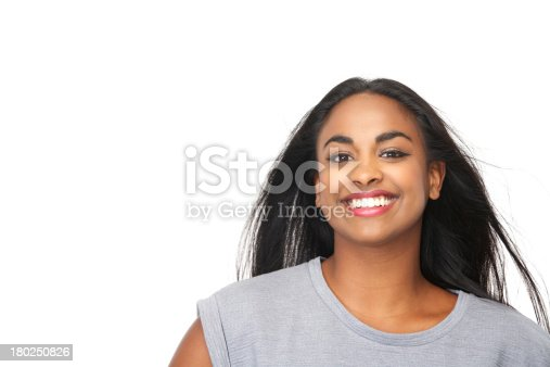 629077968istockphoto Beautiful black woman smiling 180250826