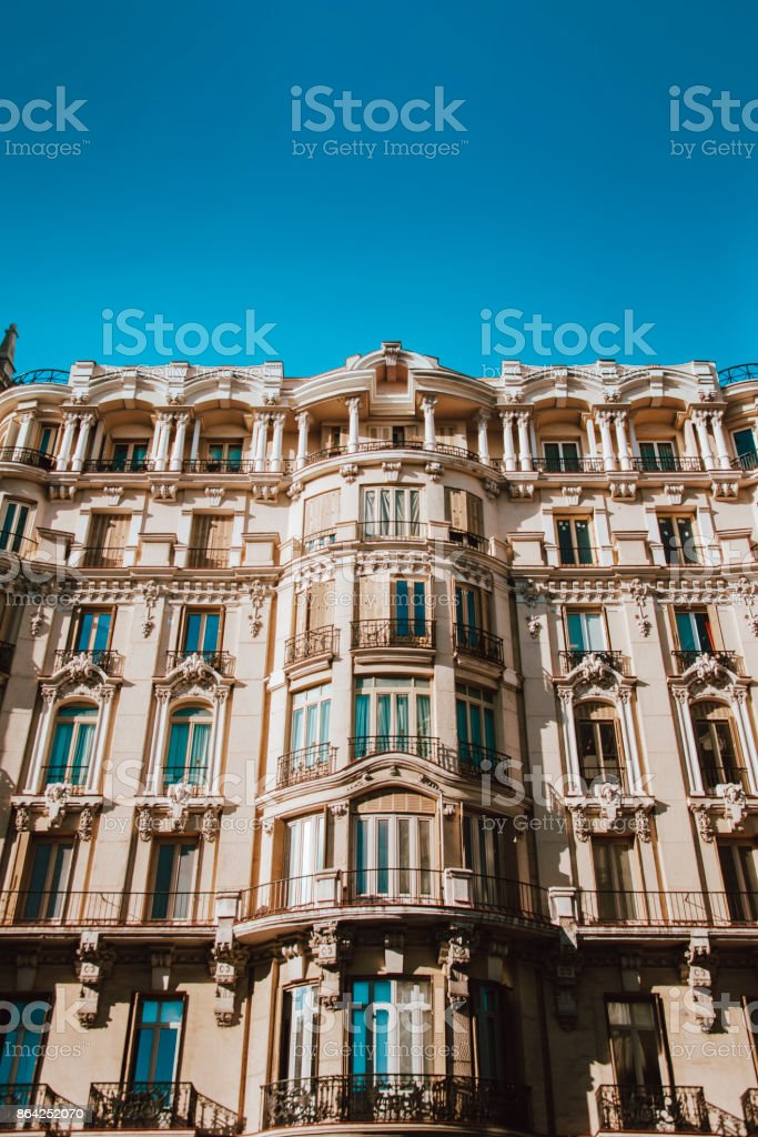 Beautiful block of apartments royalty-free stock photo