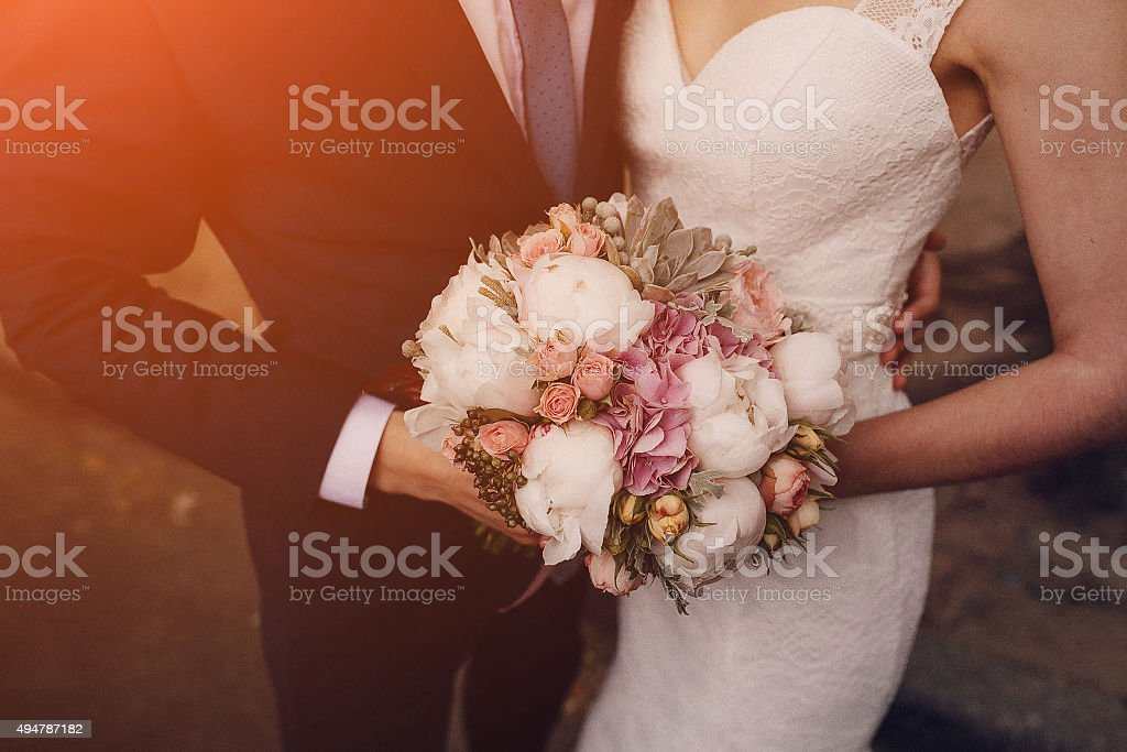 beautiful blond couple stock photo
