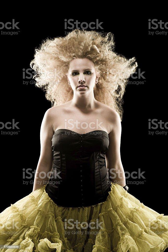 Beautiful blond fashion model royalty-free stock photo