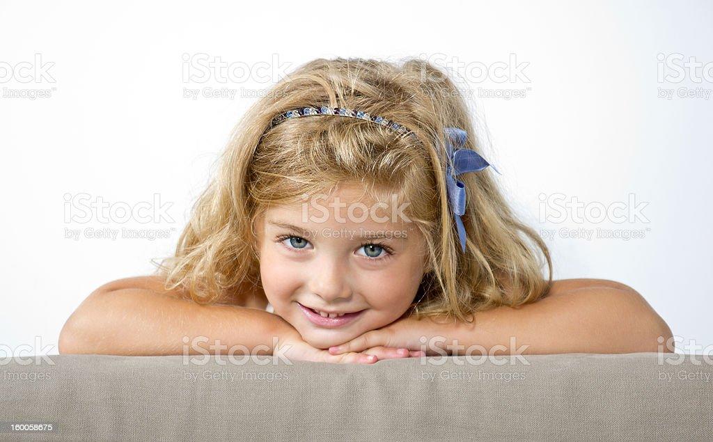 Beautiful Blond Little Girl stock photo