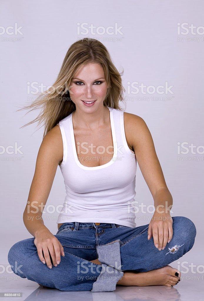 beautiful blond model royalty-free stock photo