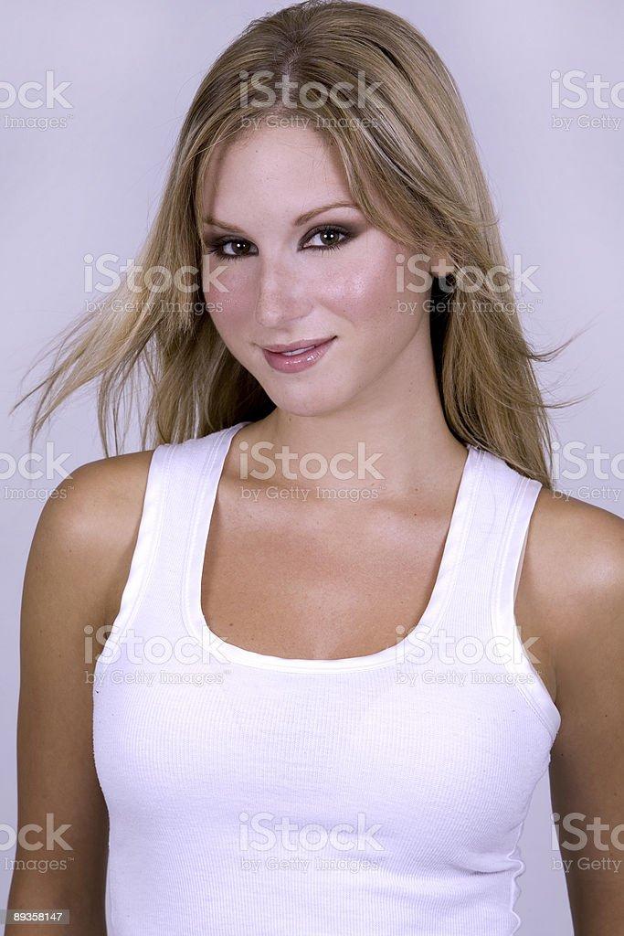Piękny blond model zbiór zdjęć royalty-free