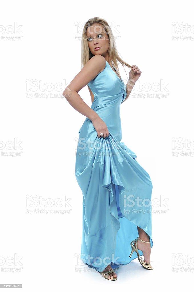 Beautiful blond teen model royalty-free stock photo
