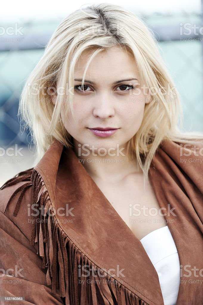Beautiful Blond woman royalty-free stock photo