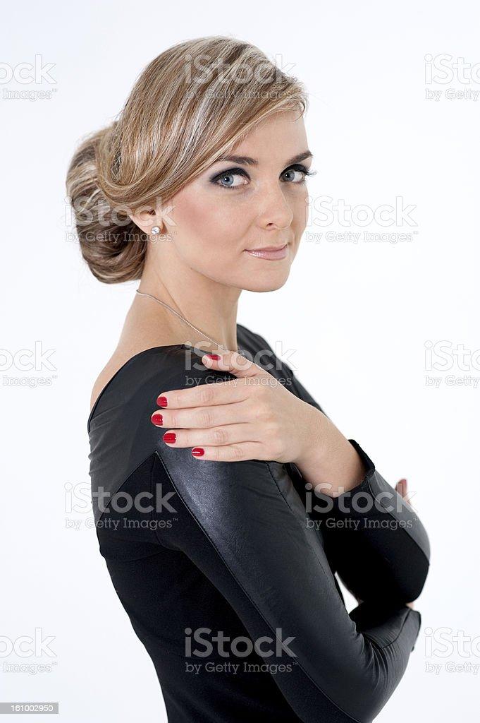 Beautiful Blond Young Woman stock photo