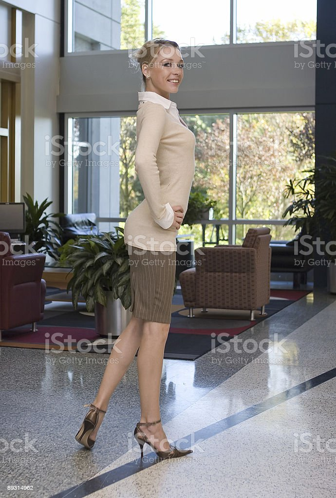 beautiful blonde business woman royalty-free stock photo