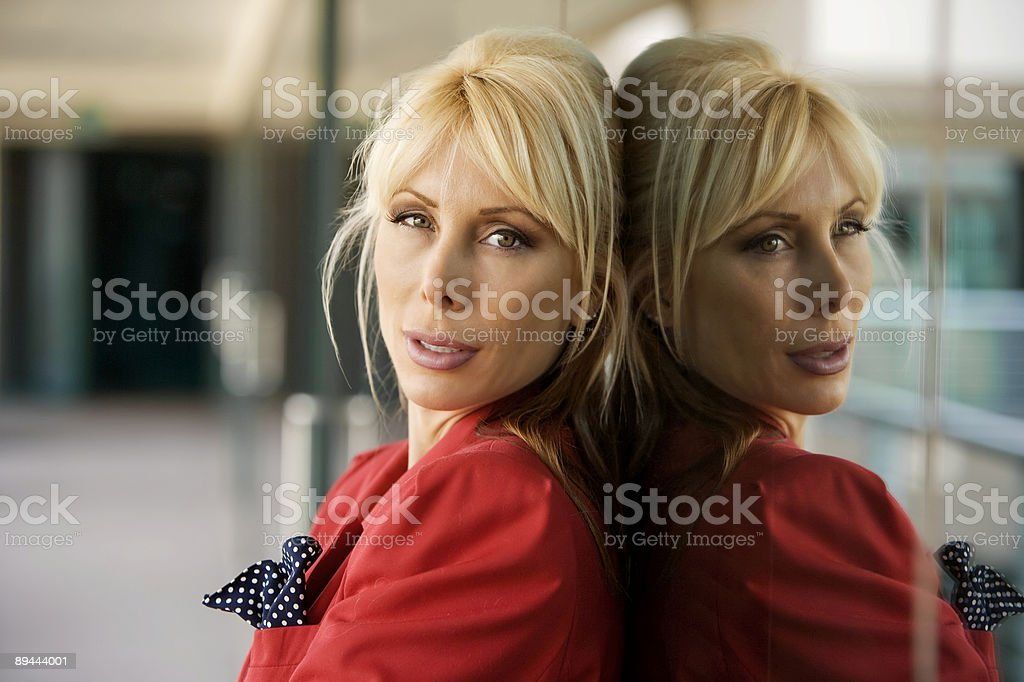 Beautiful Blonde Businesswoman 免版稅 stock photo