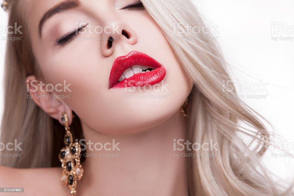 Biting lip woman lower The Female