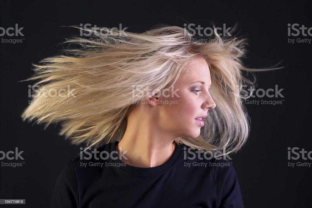 Beautiful blonde hair royalty-free stock photo