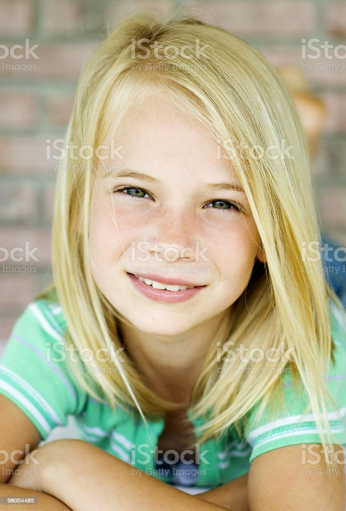 Beautiful Blonde Haired Little Girl royalty-free stock photo