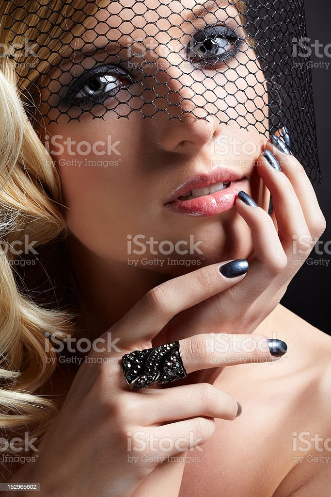 beautiful blonde in veil royalty-free stock photo