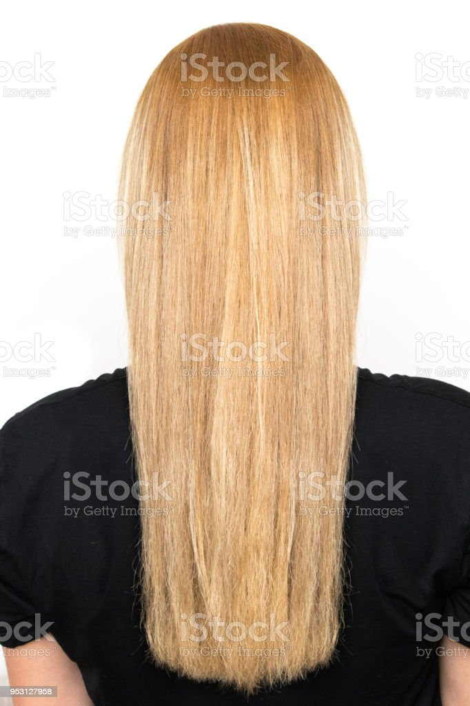 Schöne Blonde Lange Haare Von Hinten Stock Fotografie Und Mehr