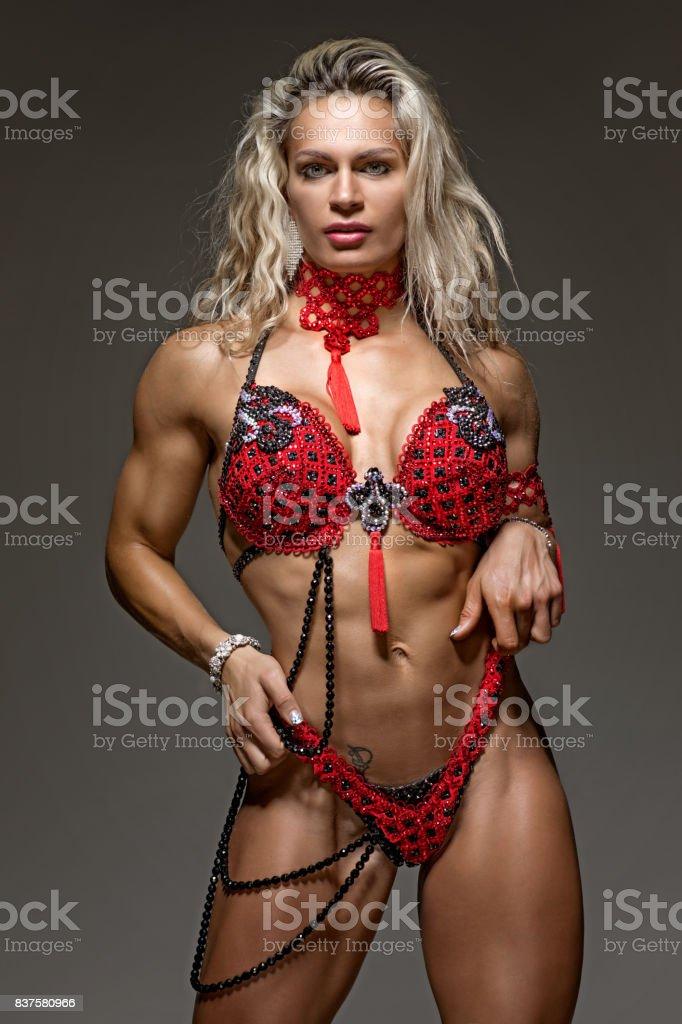 Teen muscled females