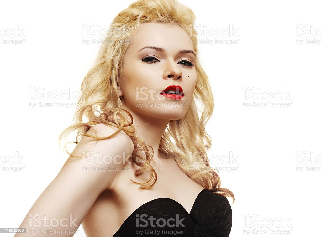 Beautiful blonde stock photo