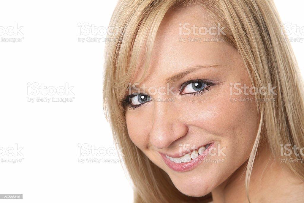Wunderschöne Blonde Porträt Lizenzfreies stock-foto