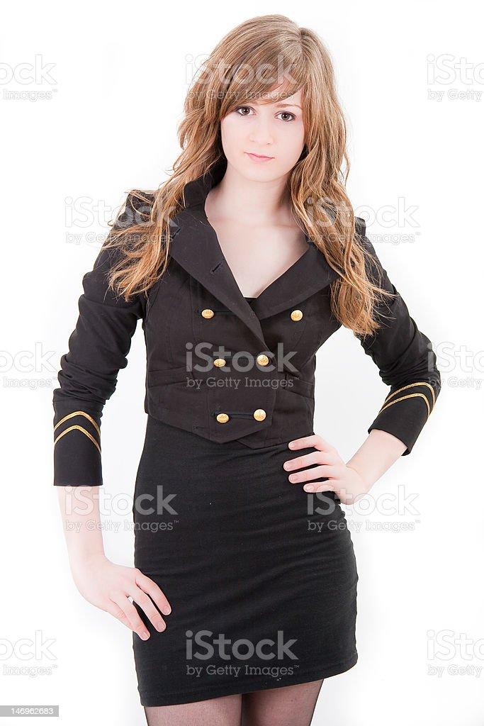 Beautiful blonde teenager girl royalty-free stock photo